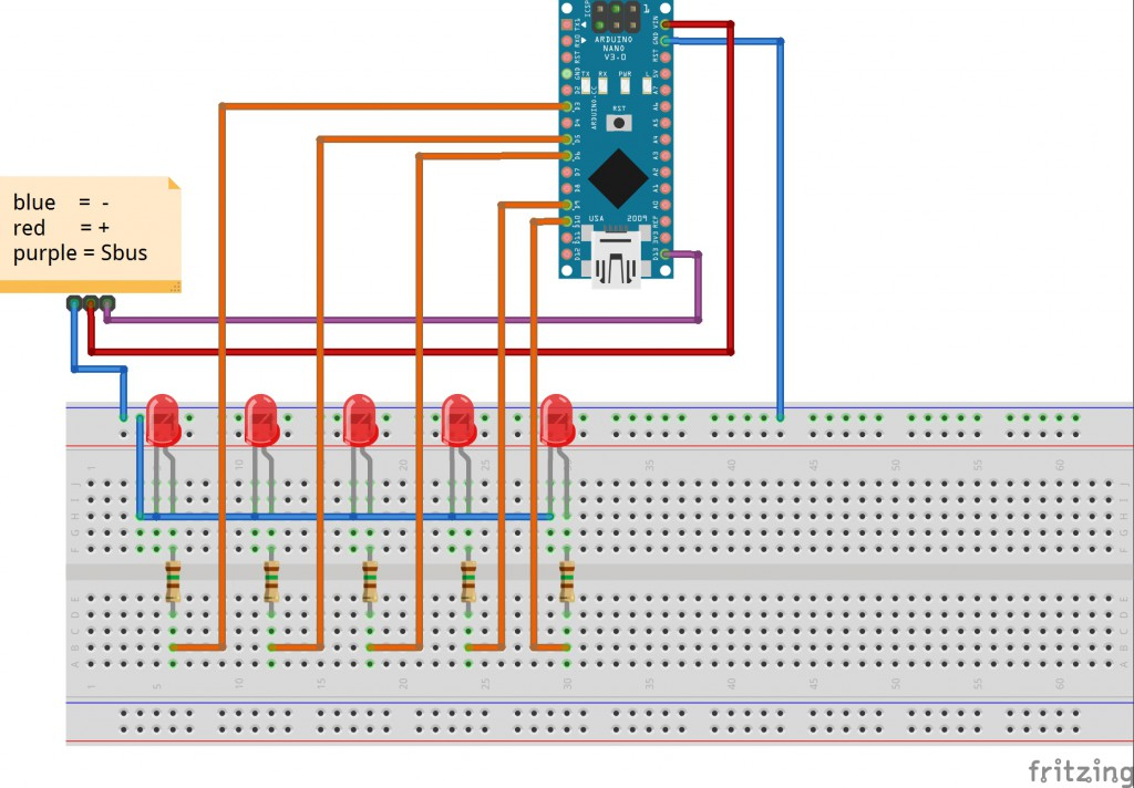 Arduino Positions Lichter für RC Flugzeuge